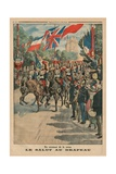 Saluting the Colours  Back Cover Illustration from 'Le Petit Journal'  Supplement Illustre  3rd…