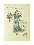 Flowers from Shakespeare's Garden: Rosemary  1906