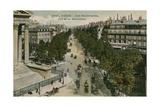 Boulevards of Paris  Seen from Boulevard de La Madeleine Postcard Sent in 1913