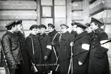 A Group of Students Acting as Militiamen  St Petersburg  1917