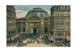 Stock Exchange in Paris  France Postcard Sent in 1913