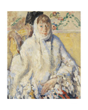The Sick Woman with White Shawl  1912