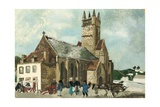 Church and Market  Brittany  1930