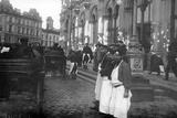Porters and Passengers Outside Nicholas Railway Station  Nevsky Prospekt  St Petersburg  1913