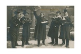 Postcard of Germans Singing in the New Year  Sent on 31st December 1913