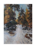 Forest Interior  Winter  1918