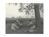Sylvia Brooke  Arthur Brodrick and Judy Smith at Prince Obaidullah's Picnic  January 1912