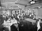 The Dining Salon on a Deck  RMS Lusitania  1907