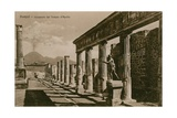 Pompeii - Colonnade of the Temple of Apollo Postcard Sent in 1913