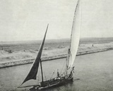 View of the Suez Canal  from the P&O Maloja During the Voyage to India  November 1911