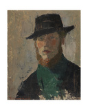 Self Portrait in Black Hat  1908