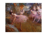 Dancers in Pink; Danseuses En Rose  c1905