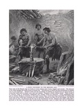A Busy Foundry in the Bronze Age  Illustration from 'The Story of the British People'  c1950