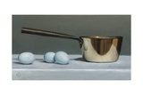 Brass Pan and Blue Eggs  2011