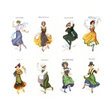 European Dancers  Cigarette Cards  1915