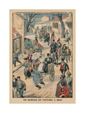A Wedding on Handcarts  Back Cover Illustration from 'Le Petit Journal'  Supplement Illustre  5th…