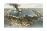 Submarine Volcano - the Island of Santorini  During the Eruption of 1866