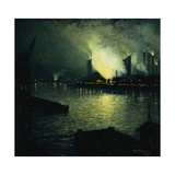 Steel Mills at Night  1926