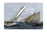 Mayflower  Puritan  and Priscilla in An Eastern Yacht Club Regatta  Marblehead MA  1889