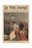 At the Vatican  Pope Leo XIII Receiving the Last Rites  Front Cover Illustration from 'Le Petit…