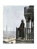 Islamic Muezzin Calling People to Prayer  1800s