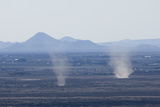 Dust Devils Twirl in the Desert Along the Mexico Border  Southern New Mexico