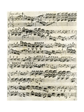 Original Manuscript of Bach's Eighth Invention Giclée