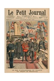 Edward VII  King of England  Leaving Cherbourg  Front Cover Illustration from 'Le Petit Journal' …