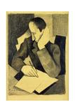 Man Writing: Study for Paludes; Homme Ecrivant: Etude Pour Paludes  c1920