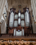 Klais Organ and Fan-Vaulted Ceiling  North Transept  Bath Abbey  UK  2010