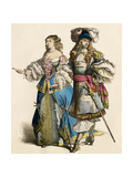 French Cavalier and His Lady  1600s