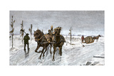 Sleigh Road on the Ice of the St Lawrence River  Canada  1880s