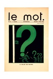 La Veillée des Neutres  Cover of 'Le Mot' Magazine  May 1 1915