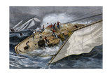 Corinthian Yacht Crew Endangered by Misunderstanding Orders  1880s
