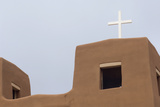 Detail of the Church at Nambe Pueblo  New Mexico