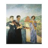 Three Women in the Vineyard; Drei Frauen Im Weinberg  1912