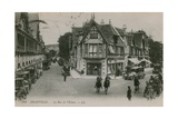 Deauville  La Rue de l'Ecluse Postcard Sent in 1913