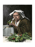 Italian-American Grandmother Preparing Soup for Supper  New York City  1870s