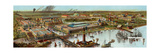 Panoramic View of the Columbian Exposition in Chicago  1892