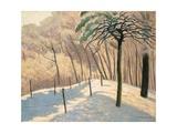 Snowy Landscape  Bois de Boulogne  1925