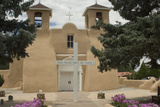 Entrance to the Spanish Colonial Church of S Francis of Assisi  Ranchos De Taos