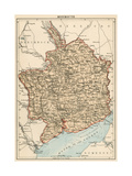 Map of Monmouth  England  1870s