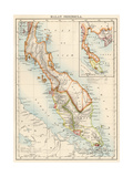 Map of Malay Peninsula  1870s