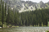 One of the Trampas Lakes High in the Pecos Wilderness  Sangre De Cristo Mountains