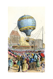 Montgolfier Balloon in France  the First Practical Hot-Air Ascent  1783