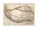 Map of Tibet, 1870s Reproduction d'art