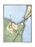 British Fortifications on Boston Neck  1775-1776