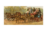 Coach and Four Horses of Lord Londonderry and Count Munster  London  1880s