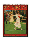 Girl Tennis-Player on the Cover of St Nicholas Magazine  1916