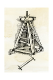 Leonardo Da Vinci Sketch for a Machine for Lifting Marble or Stone Columns Into Position